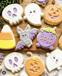Halloween Cookies, Decorated Cookies, Biscotti, Cookie Decorating, Sweets, Sugar, Future, Cake, Desserts