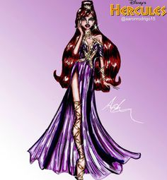 'Megara' Disney Princess Couture Collection by @aaronrodrigo15  Be Inspirational ❥ Mz. Manerz: Being well dressed is a beautiful form of confidence, happiness & politeness