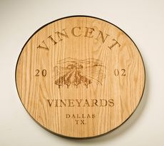 wine barrel lids | Personalized Wine Barrel Look Lazy Susan by Maple Leaf at Home