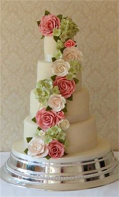 Cascading Rose and Hydrangea from Cake Sweet Cake
