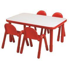 "Angeles Baseline 48"" x 30"" Rectangular Activity Table Side Finish: Royal Blue, Table Size: 24"" H"