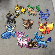 Pokemon Eeveelutions Eevee sylveon espeon by ThaliasCrafts on Etsy