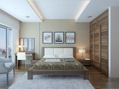 Mẫu bàn trang điểm gỗ công nghiệp MDF hiện đại cho căn phòng ngủ