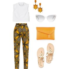 A fashion look from May 2014 featuring Monki tops, Stella Jean pants und Henri Bendel clutches. Browse and shop related looks.