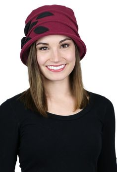 c99e6a32d75 Lady Rose Fleece Cloche Hat For Women. Hats For Cancer ...