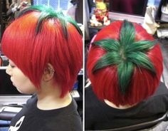 Funny pictures about Tomato Head. Oh, and cool pics about Tomato Head. Also, Tomato Head photos. Crazy Hair Days, Bad Hair Day, Veggie Tales, Bizarre, Red Hair Color, Grunge Hair, Hair Humor, Hair Jokes, Dyed Hair