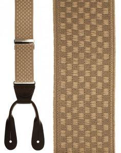 Beige Checkers Suspenders