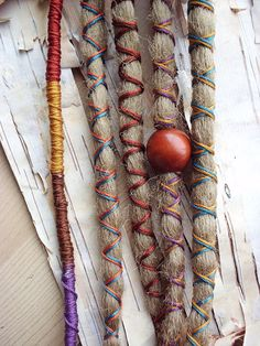 5 Custom Dreads Hair Wraps & Beads Bohemian Hippie Dreadlocks Tribal Falls Synthetic Boho Extensions Hair Accessories