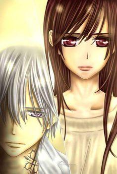 Vampire knight Memories, Yuuki y zero. Manga Anime, Anime Guys, Anime Art, Vampire Knight Zero, Yuki And Zero, Cosplay Steampunk, Matsuri Hino, Yuki Kuran, Anime Girls