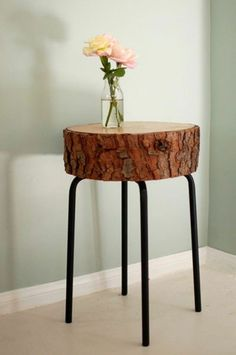 Make It: A DIY Log Slice Side Table
