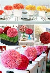 Great paper flower centerpieces!!!