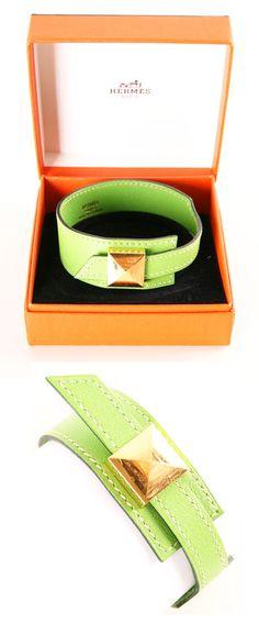 Hermès Leather Bracelet @}-,-;--