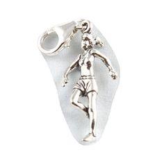 Sterling Silber Weiblicher Jogger / Läufer Anhänger - Mit 11mm Verschluss - http://schmuckhaus.online/charm-school-uk/sterling-silber-weiblicher-jogger-laeufer-mit