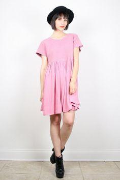 Vintage Pink Dress 90s Dress Grunge Dress by ShopTwitchVintage #vintage #etsy #90s #1990s #grunge #mini #dress #babydoll #tshirt