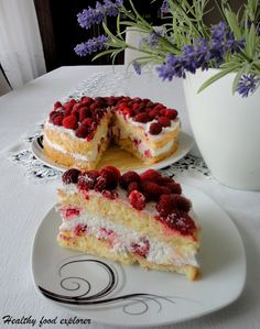 Bezglutenowy tort z owocami Cheesecake, Cook, Fit, Recipes, Shape, Cheesecakes, Recipies, Ripped Recipes, Cherry Cheesecake Shooters