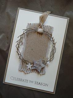 Jenny's Papierwelt: Weihnachtskarte ~ celebrate the season ~