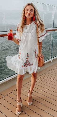 Free People Dress with Embroidered Detail