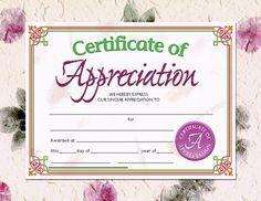 Printer-Compatible Certificates & Awards, Certificate of Appreciation, HVA614