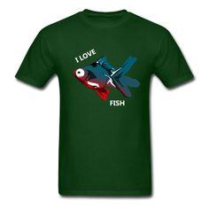 Mens Animal Welfare Fish Shirt - Men's T-Shirt Fish Man, Fishing T Shirts, Heather Black, Fruit Of The Loom, Cloth Bags, Apparel Design, Fabric Weights, Kids Outfits, Shirt Designs