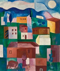 Brazilian landscape(1925) - Oil on Canvas - Lasar Segall