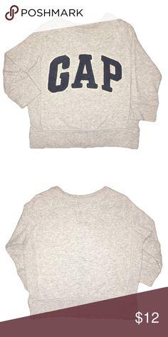Gap logo sweater Lightly worn with love. Gray logo sweater GAP Shirts & Tops Sweatshirts & Hoodies