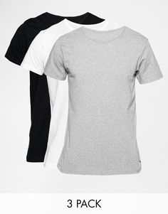 Tommy Hilfiger Stretch Crew Neck T-Shirts In 3 Pack