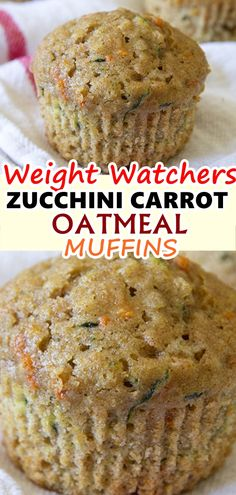 Weight watchers muffins - Zucchini Carrot Oatmeal Muffins, made with whole wheat and golden raisins, are the perfect option for a healthy, wholesome and delicious breakfast or snack zucchini carrot oatmeal muffins Skinnyrec Weight Watchers Zucchini, Weight Watcher Desserts, Weight Watcher Muffins, Weight Watchers Meals, Weight Watcher Breakfast, Skinny Recipes, Ww Recipes, Cooking Recipes, Healthy Recipes