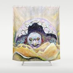 Baby Tortoise Shower Curtain by crismanart Baby Tortoise, Shower Curtains, Tapestry, Throw Pillows, Artwork, Artist, Design, Hanging Tapestry, Tapestries