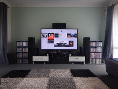 Living Room Setup, Bedroom Setup, Living Room Decor Cozy, Small Room Bedroom, Muebles Home, Small Game Rooms, Mundo Dos Games, Game Room Design, Gamer Room