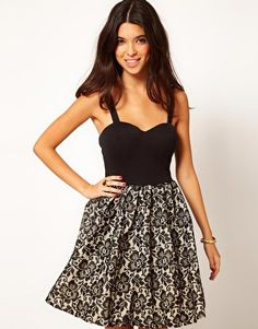 59e3ca09229a Enlarge Rare Skater Dress With Lace Skirt