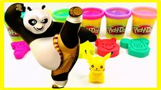 Learn Colors Play Doh Fun Kung fu Panda Compilation Nursery Rhymes - Vid...