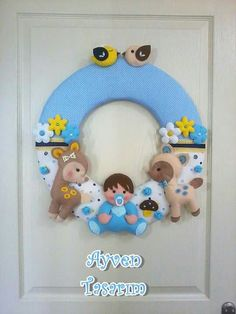 Little baby lovely boy felt Foam Crafts, Baby Crafts, Cute Crafts, Diy And Crafts, Felt Kids, Felt Baby, Felt Wreath, Felt Garland, Felt Name Banner