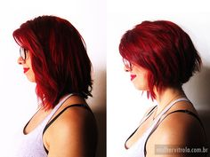 Short red hair / cabelo curto / hairstyle
