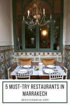 5 OF THE BEST PLACES TO EAT IN MARRAKECH - With so many choices,  selecting a restaurant and of course finding it in Marrakech, can be difficult, so here are my top 5 places you must visit whilst you are in Marrakech. ON BECKYVANDIJK.COM