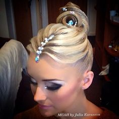 I love this style! I want this for my next comp. #ballroomhair #ballroomdance #dancesport #myballroomboutique