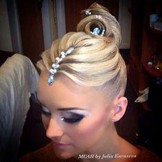 I love this style! I want this for my next comp. #ballroomhair #ballroomdance #dancesport #myballroomboutique
