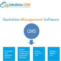Quotation Management Software....... Management Software, Sales Crm, School Essay, Chemical Industry, Harvard Business School, Stanford University, Graduate School, Solution, Quotations