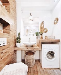 # Bathroom vinyl decor # Bathroom decor ideas small # Bathroom decor and tiles will be … – rustic home interior Laundry Room Design, Laundry In Bathroom, Small Bathroom, Bathroom Shelves, Design Bathroom, Bathroom Ideas, Wooden Bathroom, Bathroom Vinyl, Laundry Rooms