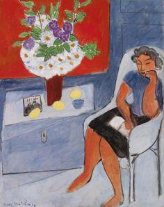 Henri Matisse - 1939, Figure with Bouquet (The Barnes Foundation, Philadelphia, PA)