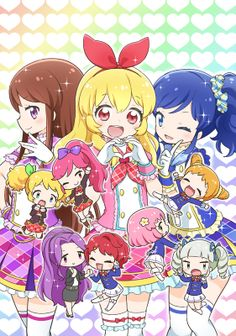 Aikatsu... A idol anime that's super Kawaii and fun.  A anime that I recommended to watch after a rough day at school/work that will make u feel a ton better.  Also a anime that little kids can enjoy.