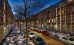 The Atjehstraat was just an ordinary street in Katendrecht, a hardscrabble neighborhood in Rotterdam's old harbor area, where immigrants and young people have taken the place of sailors and prostitutes. http://archrecord.construction.com/projects/lighting/2012/08/Broken-Light.asp#