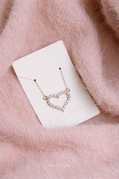 14K Gold Filled Heart CZ Necklace Gold Filled Jewelry, Gold Jewelry, Jewlery, Multi Strand Necklace, Dainty Necklace, Chain Pendants, Cute Jewelry, Valentine Gifts, Aesthetic Beauty