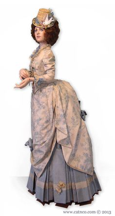 Millicent all porcelain fashion doll by Catherine Mather dressed in Victorian bustle era historical clothing, patterns, shoes, hat available Historical Costume, Historical Clothing, Ooak Dolls, Art Dolls, Doll Costume, Costumes, Victorian Dolls, Victorian Dresses, Fashion Dolls