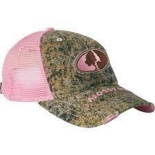 6db7a02d060 Cabelas Womens Mossy Oak Pink Camo Mesh-Back Cap