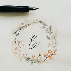 Floral Alphabet wreaths by Drew Europeo