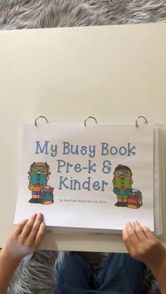 Busy Book for Pre-k and Kindergarten Interactive busy book for Pre-k and Kindergarten -Lower and upper case letters -Numbers -Color recogition -Matching -Shapes -Writing Great for distance learning First Day Of School Activities, Pre K Activities, Kindergarten First Day, Kindergarten Graduation, Preschool Learning Activities, Homeschool Kindergarten, Preschool At Home, Preschool Lessons, Kids Learning