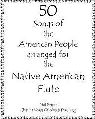 """50 songs loved by the American people, arranged for both the 5 and 6 hole Native American flute. Presented in easy to follow """"fingering chart"""" format. Spiral bound to lay flat while playing."""