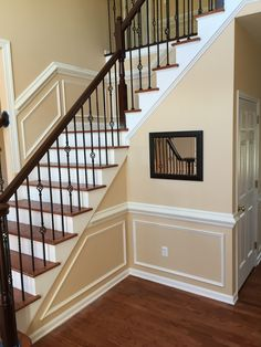 chair rail ideas :: breaking up the lower portion of the ...