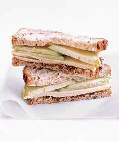 Cheddar en appel sandwich