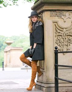 Thigh High Boots Outfits | Boot Fashion: Cassandra Smith in Christian Louboutin Thigh High Boots ...